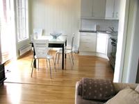 Апартаменты Istind Alpingrend, столовая-кухня