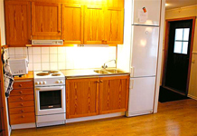 апартаменты Tegefjall, кухня