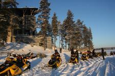 Отель Калевала, снегоходные прогулки