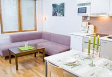 апартаменты 43 метра, кухня и гостиная