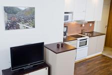 апартаменты 55 метров, кухня и гостиная