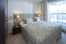 Saimaa Holiday Club, спальня в апартаментах