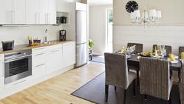 Saimaa Holiday Club, кухня в коттедже