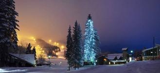 Горнолыжный курорт Tahko, праздничная елка