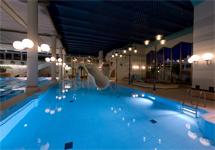 Спа отель Velosipis,горка в бассейне