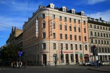Гостиница Irina, фасад здания