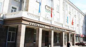 Гостиница Октябрьская, фасад