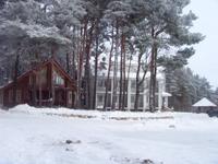 Турбаза Юность, территория зимой