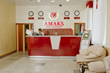Гостиница Amaks, рецепция