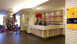 Отель Park Inn, рецепция