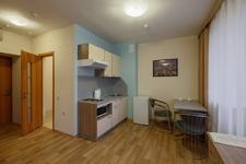 Рубин апарт, кухня в номере