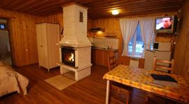люкс коттедж на 2 чела, гостиная кухня