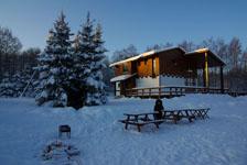Шале Рояль, территория зимой