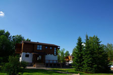 Шале Рояль, территория летом