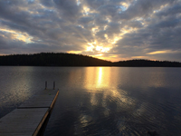Коттедж Mantyrinne, вид на озеро