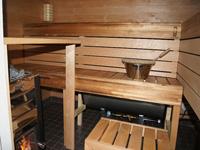 Коттедж Mantyrinne, баня внутри