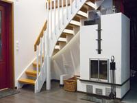 Коттедж в Тампере, лестница наверх