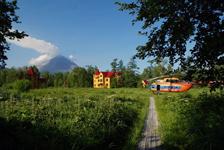 Турбаза Тумроки, вертолетная площадка